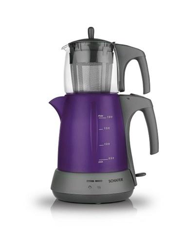 Schafer Schafer Stılle Elektrikli Çay Makinesi Mor Renkli